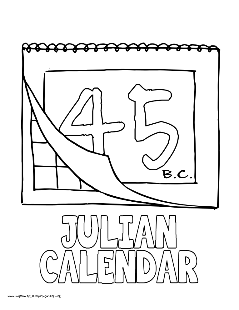 king julian coloring pages - world history coloring pages printables julian calendar