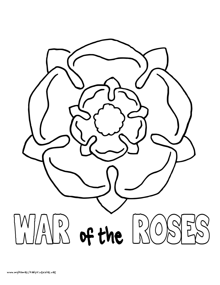 Tudor Roses Coloring Pages