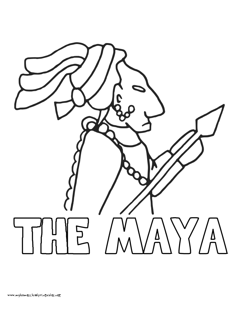 My Homeschool Printables 18 Maya